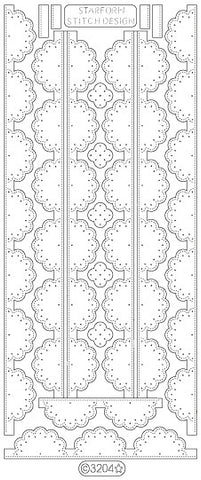 3204 - Doily Border - Starform Stickers