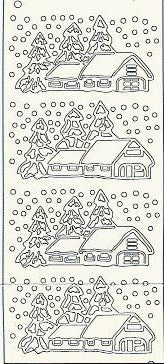 4560j - Winter Scene - gold - JeJe Stickers