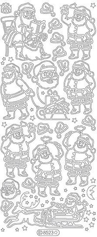 8523 - Santas - Starform Stickers