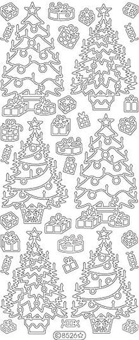 8526 - Christmas Trees - Starform Stickers