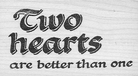 Two Hearts (rubber stamp)