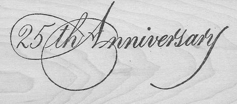 25th Anniversary (rubber stamp)