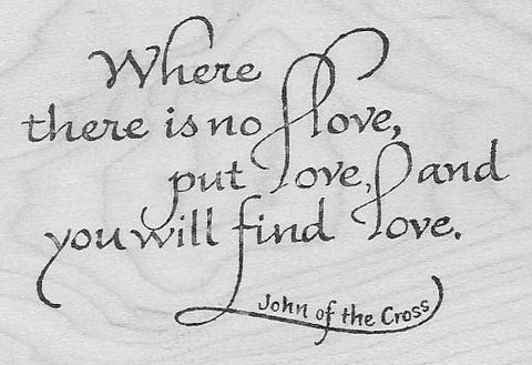 Where There Is No Love (rubber stamp)