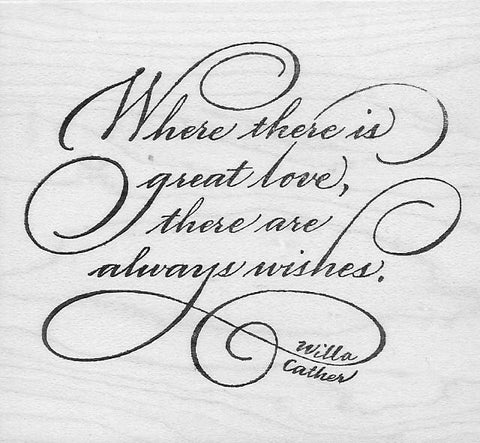 Where There Is Great Love (rubber stamp)