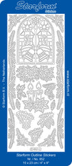 0852s - Church Windows & greenery - silver - Starform Stickers