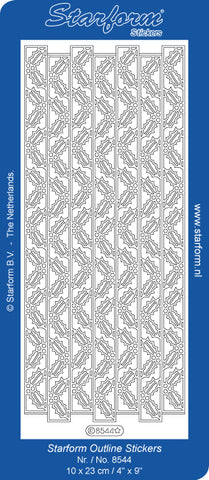 8544- Holly Leaf Borders - Starform Stickers
