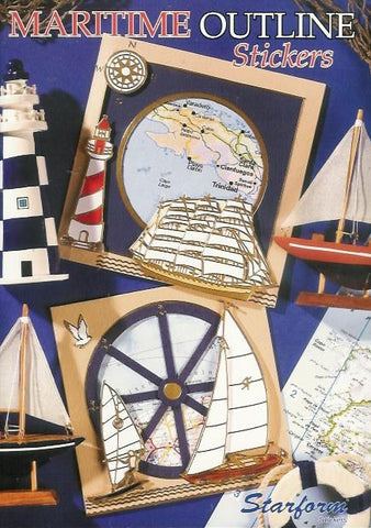 Maritime Outline Stickers book