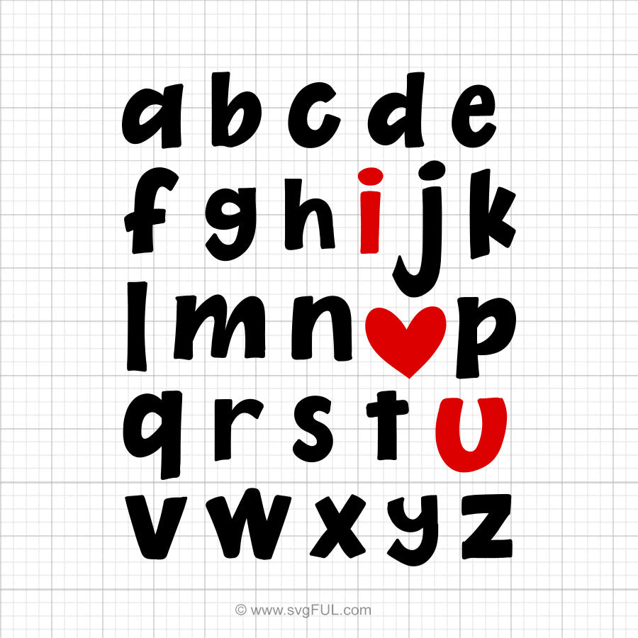 ABC I Love You Svg Saying