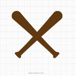 Baseball Bat Svg Clipart - svgize