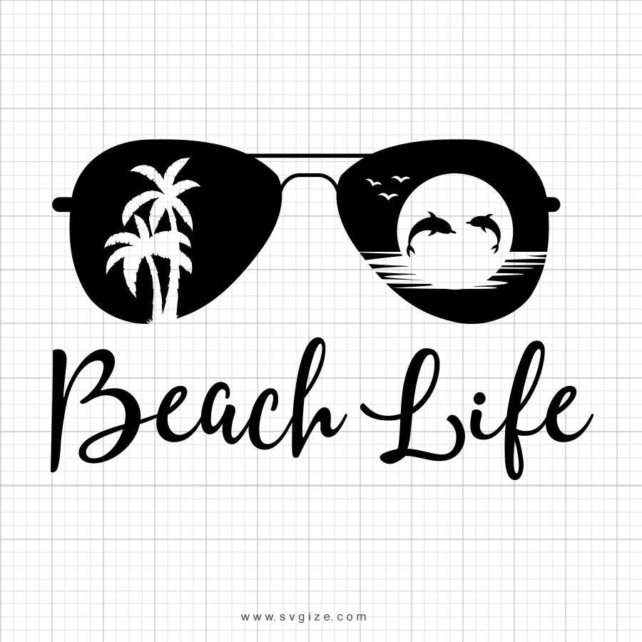 Beach Life SVG Saying - svgize