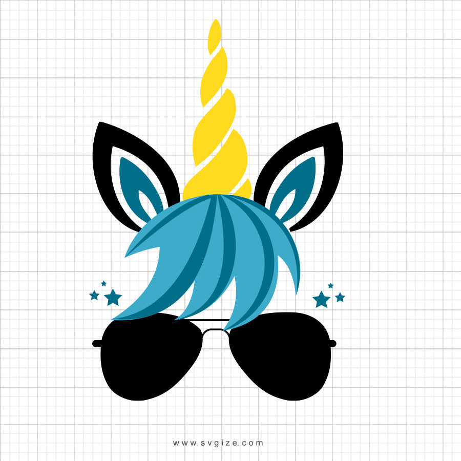 Boy Unicorn Svg Clipart