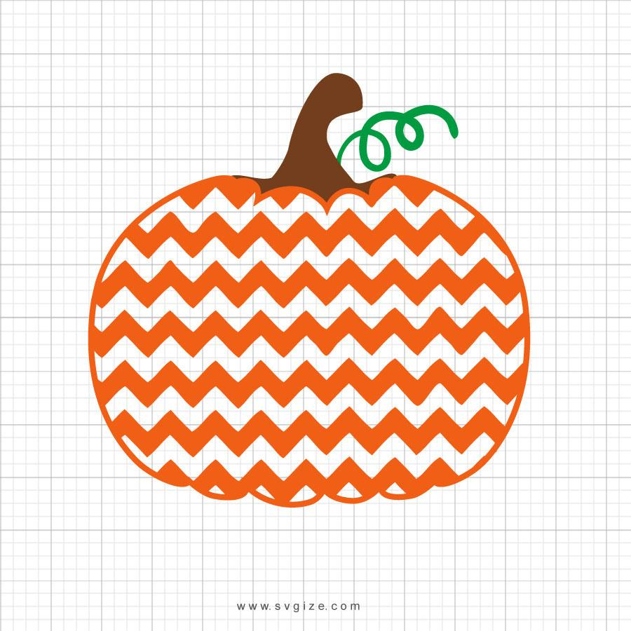 Chevron Pumpkin Svg Clipart - svgize