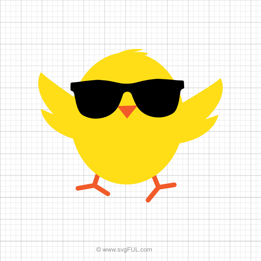 Free Easter Chick Svg Clipart