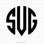Circle Monogram SVG Font Alphabet - svgize