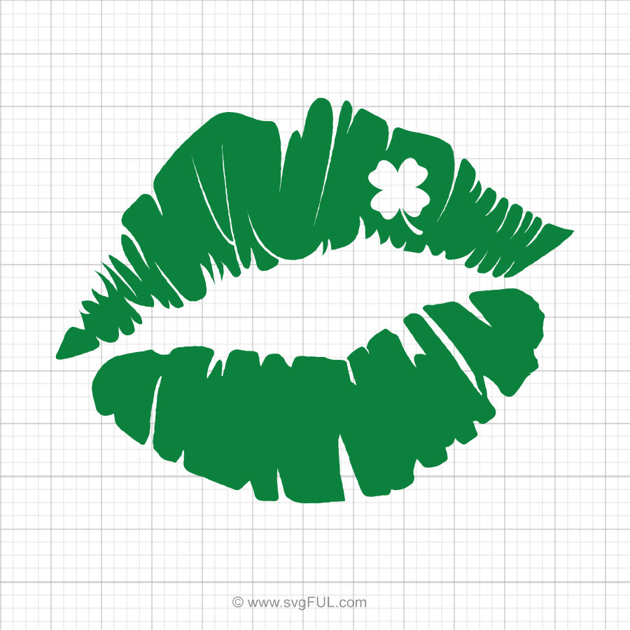 Clover Lips Svg Cut File