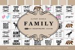 Family Svg Clipart Printables Craft Bundle