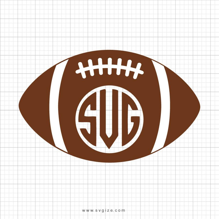 Football Monogram Svg Clipart - svgize