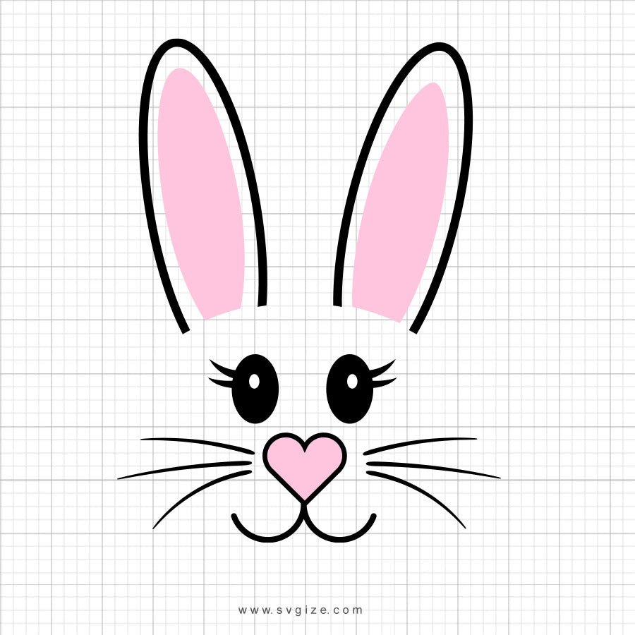 Bunny Face Svg Clipart