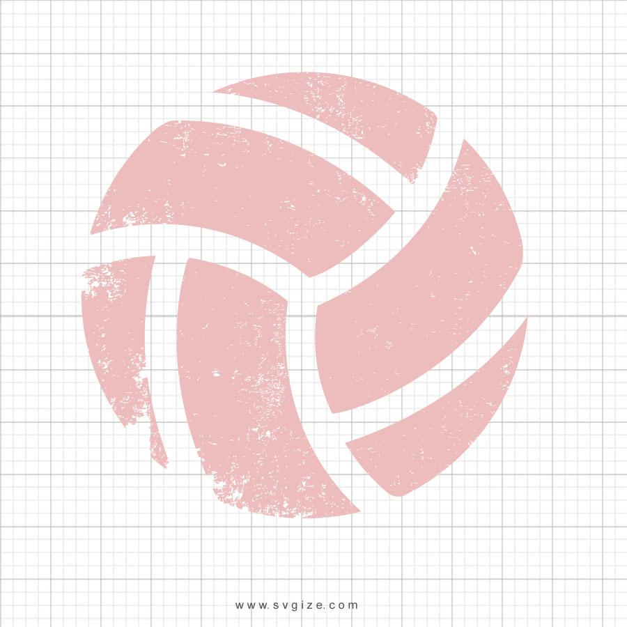 Grunge Distressed Volleyball SVG File - svgize
