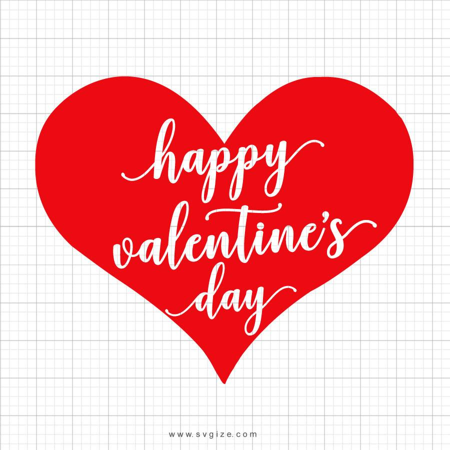 Happy Valentines Day Heart Svg Saying - svgize