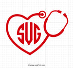 Medical Heartbeat Stethoscope Svg