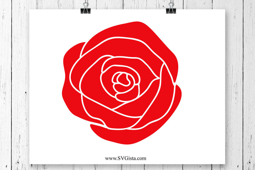 Rose Svg, Valentines Day Svg, Love Svg, Flower Svg, Valentines Day Clipart, Silhouette Cut File, Cricut Cut Files, Svg Files, SVG, Cricut
