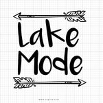 Lake Mode SVG Cut File, DXF Cut File, Clipart, Printable, Silhouette, Svg, Dxf, Png, Jpeg, Cricut