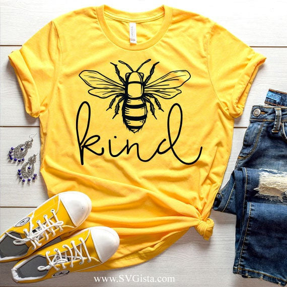 Bee Kind,Svg, Kind Svg, Be Kind Svg, SVG Cut File, DXF Cut File, Clipart, Printable, Silhouette, Svg, Dxf, Png, Jpeg, Cricut - ClipartAccess
