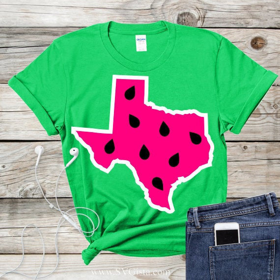 Texas Watermelon Svg, Texas Svg, Watermelon Svg, Summer Svg, SVG Cut File, Texas State Svg, America Svg, Merica Svg, Clip Art, Printable