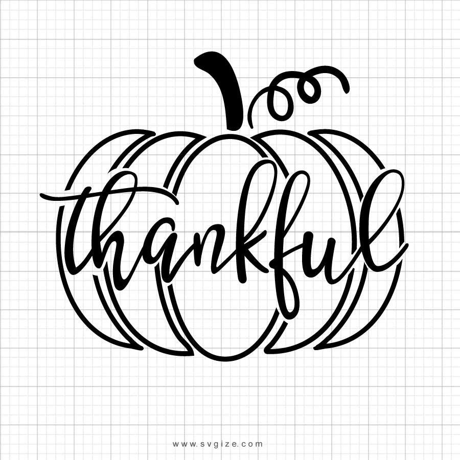 Thankful Pumpkin Svg, SVG, Fall SVG, Thanksgiving Svg, Pumpkin Svg, Pumpkin Outline Svg, Fall Shirt Svg, SVG, Cricut File, Silhouette - ClipartAccess