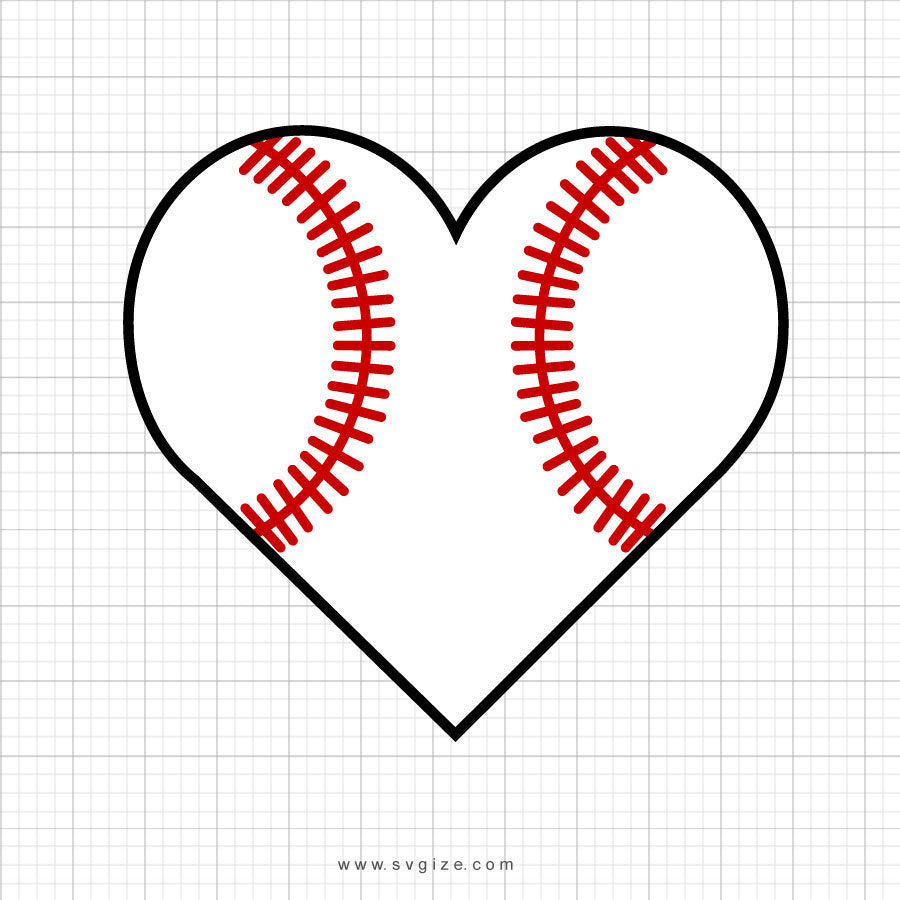 Baseball Heart Svg, Baseball Svg, Baseball Love Svg, Cricut, Svg, SVG Cut File, Clip Art, Printable For Crafters And Designers, Svg, Dxf - ClipartAccess