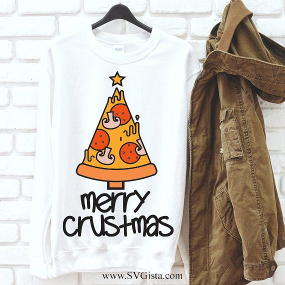Merry Crust Mas  SVG Cut File, Christmas Svg, Merry Svg, Christ Svg, Pizza Svg, Svg, Christmas, Merry Christmas Svg