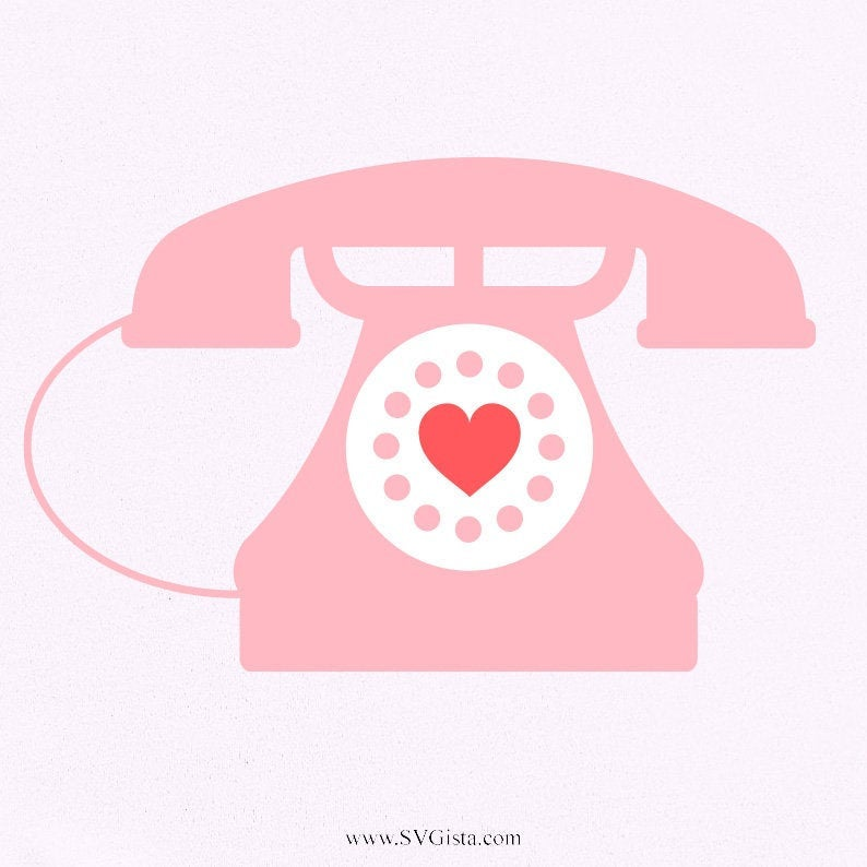 Heart Phone Svg. Valentines Day Svg, Svg, Cricut, Svg, SVG Cut File, Clip Art, SVG Files, Svg, eps, Silhouette Files, Cricut Files, Cricut