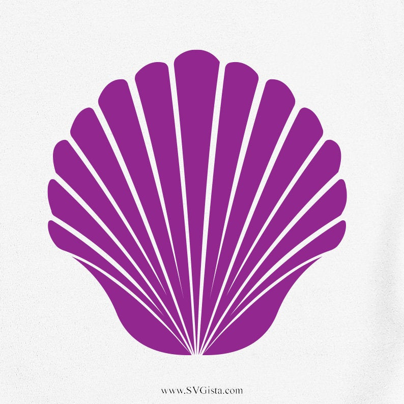 Shell Svg, Sea Shell Svg, Memaid Shell Svg, Summer Svg, Silhouette Cut File, Cricut Cut Files, Svg Files, SVG Cut File, Clip Art, Craft