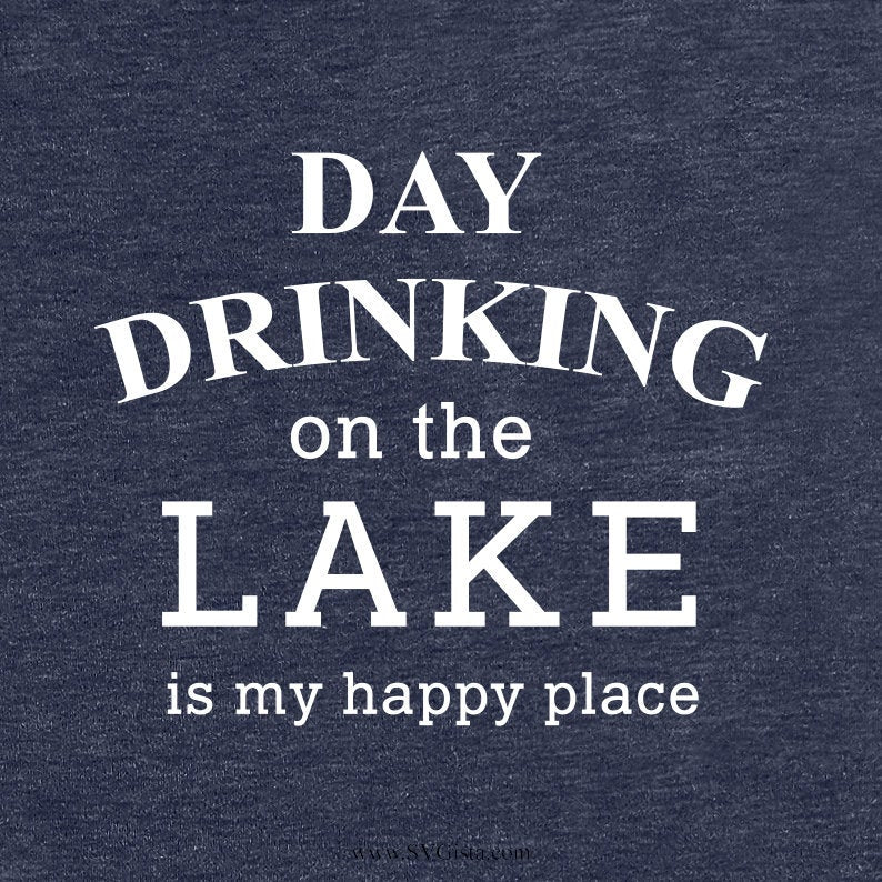Day Drinking At The Lake SVG Cut File, DXF Cut File, Clipart, Printable, Silhouette, Svg, Dxf, Png, Jpeg, Cricut