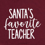 Santa's Favorite Teacher Svg, Christmas Svg, Svg File, Cricut Cut File, Clip Art, Svg Cut File, SVG File, DXF, Jpeg, Santa Svg, Teacher Svg