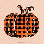Plaid Pumpkin Svg, Halloween Plaid Print Pumpkin Svg, SVG, Fall SVG, Buffalo Plaid Pumpkin, Thanksgiving Svg, Pumpkin Svg, SVG, Cricut
