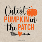Cutest Pumpkin In The Patch Svg, Pumpkin Svg, Halloween SVG, Halloween Shirt Svg, Halloween SVG, Cricut Files, Silhouette Files, Cricut