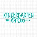 Kindergarten Crew Svg Saying - svgize