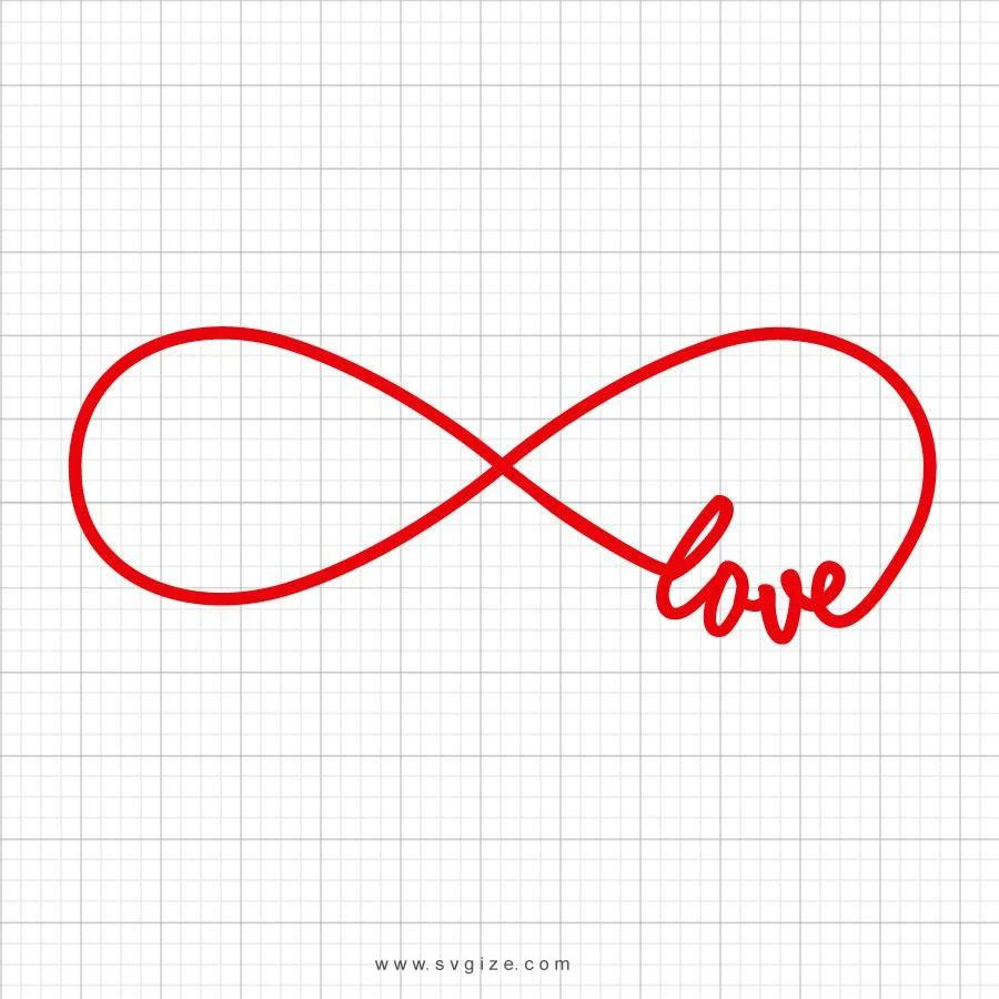 Love Infinity Svg Saying - svgize