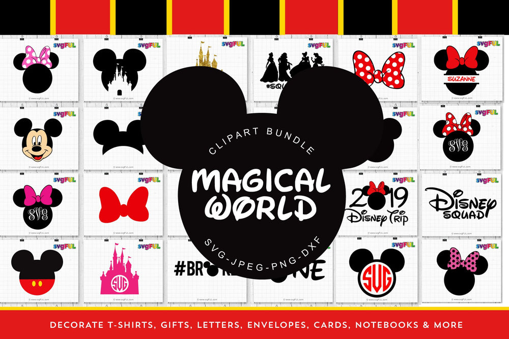 Magical World Svg Clipart Printables Craft Bundle