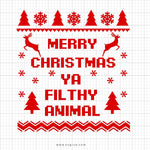 Merry Christmas Ugly Christmas Sweater Svg Saying - svgize