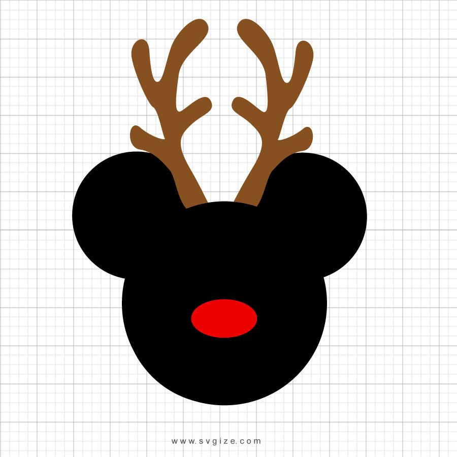 Mickey Mouse Reindeer Clipart - svgize