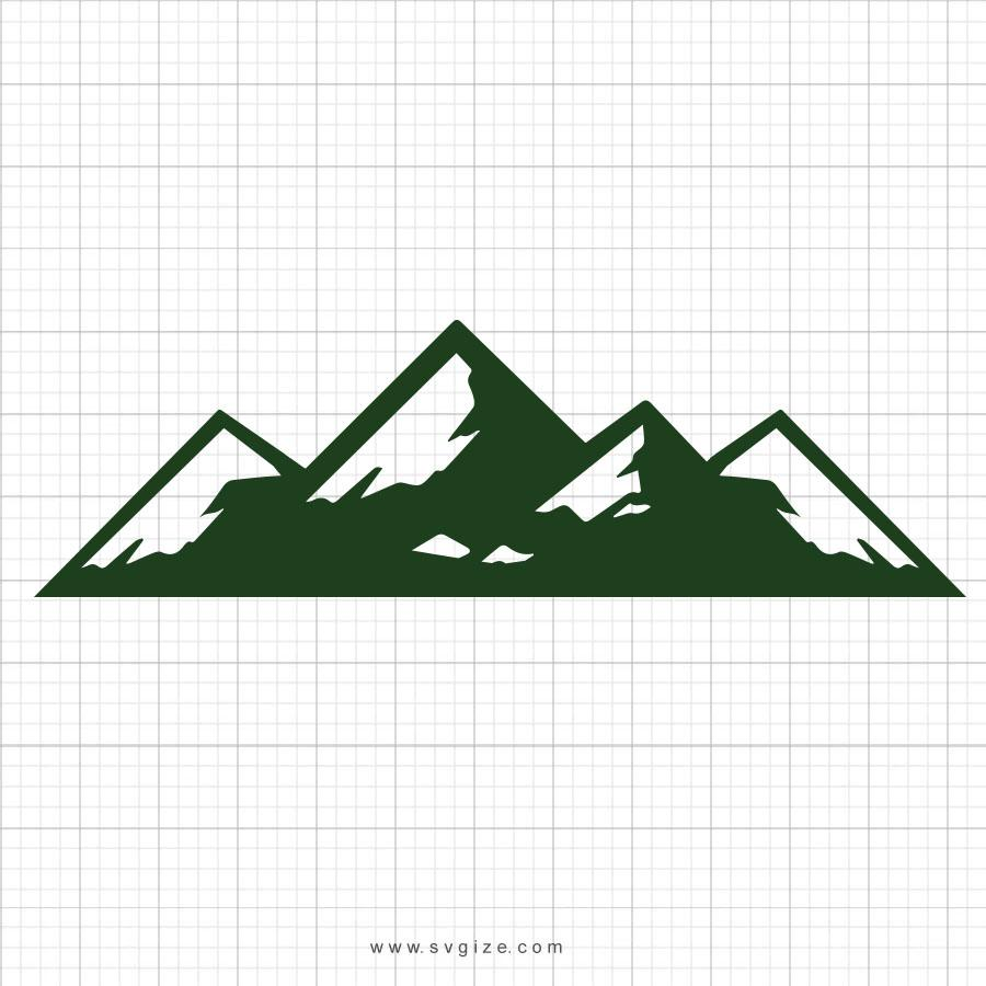 Mountains SVG Clipart - svgize