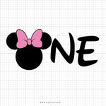 Minnie Mouse One Svg Saying - svgize