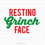 Resting Grinch Face Svg Saying - svgize
