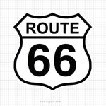 Route 66 SVG Saying - svgize