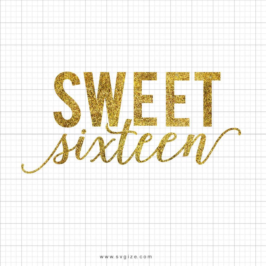 Sweet Sixteen Birthday SVG Design - svgize