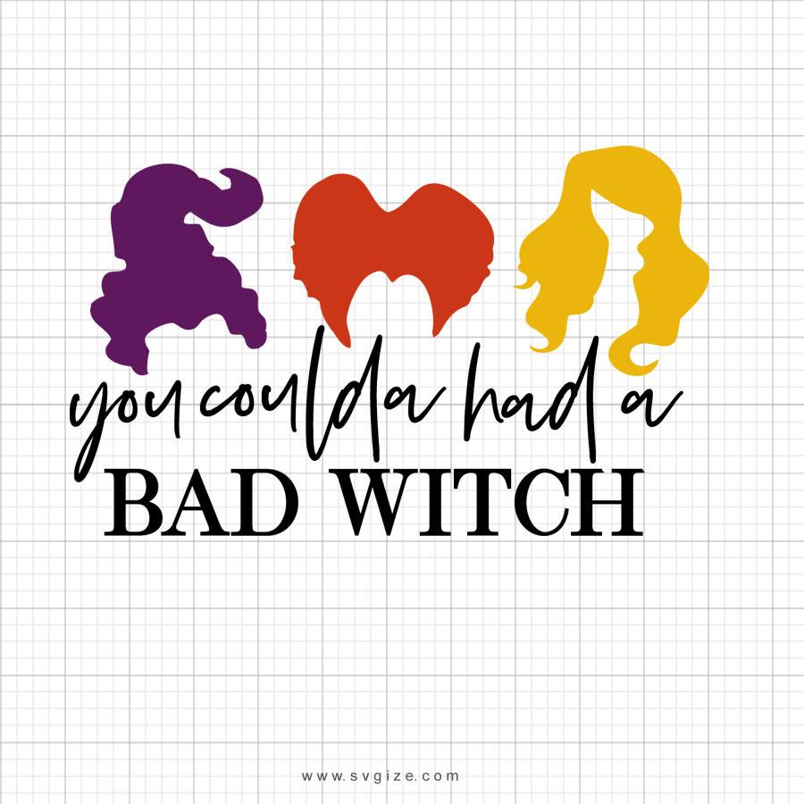 You Coulda Had A Bad Witch Svg Saying - svgize