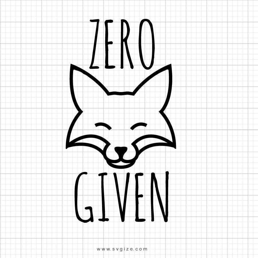 Zero Fox Given SVG Clipart - svgize